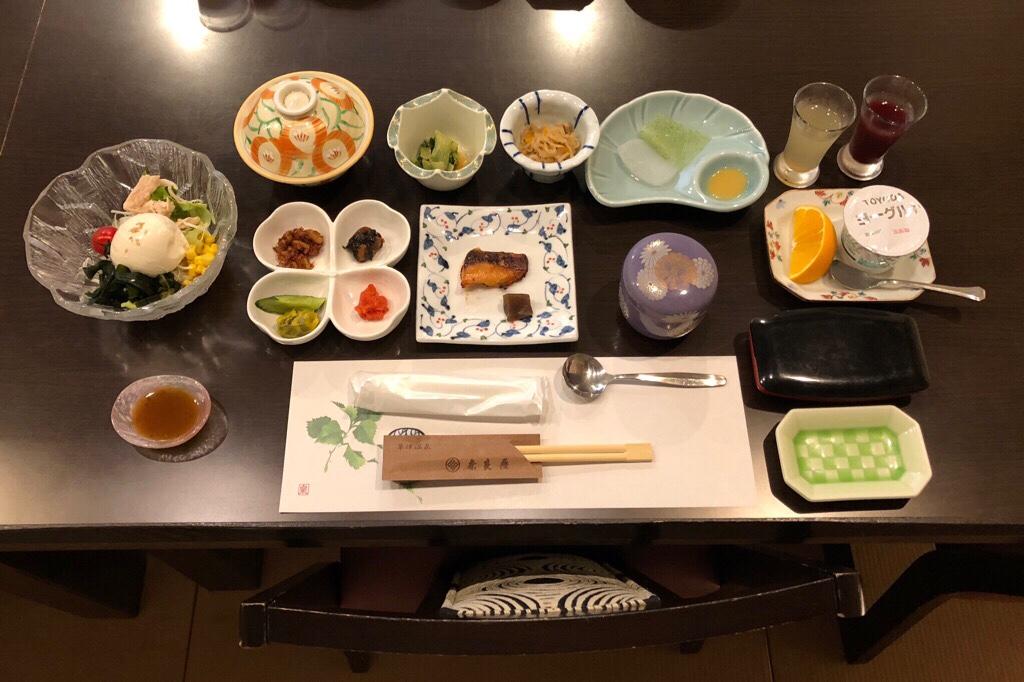 草津温泉 奈良屋 朝食