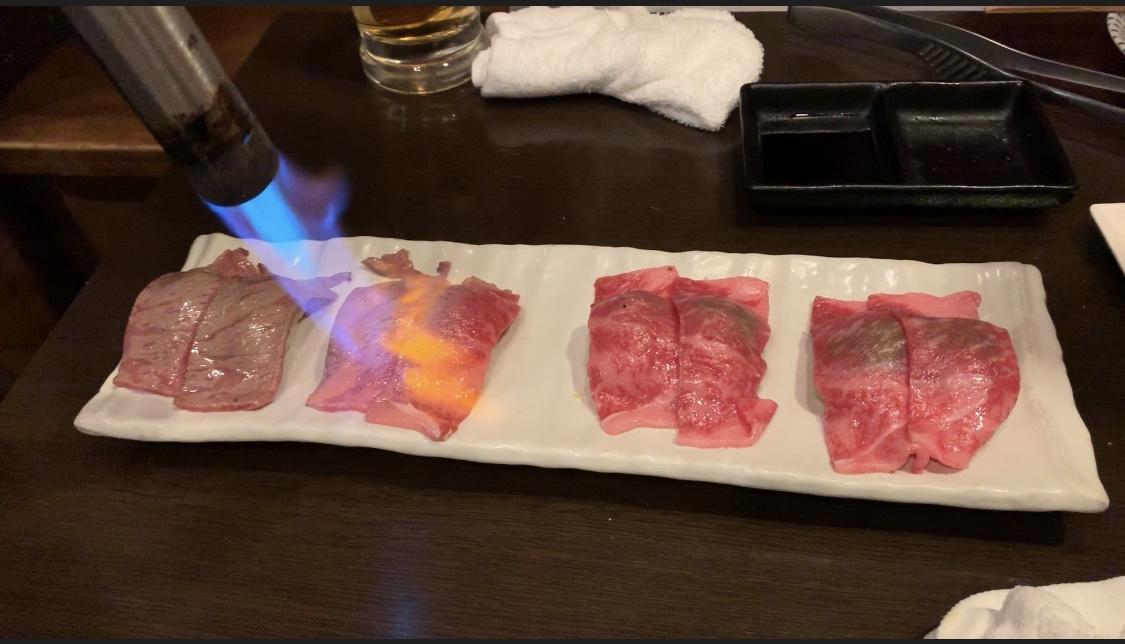 極上炙り和牛サーロイン寿司