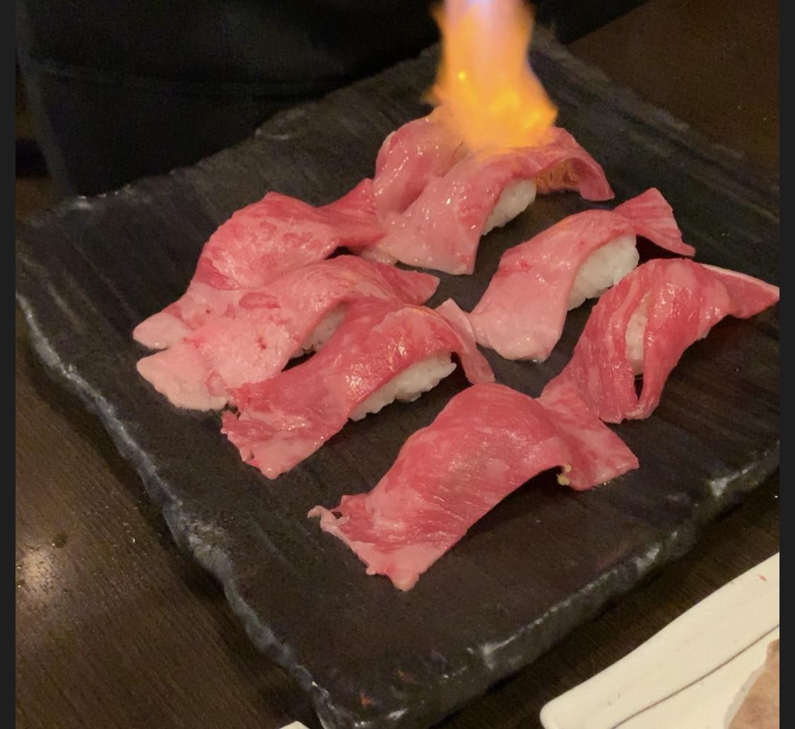 熟成牛の牛たん寿司