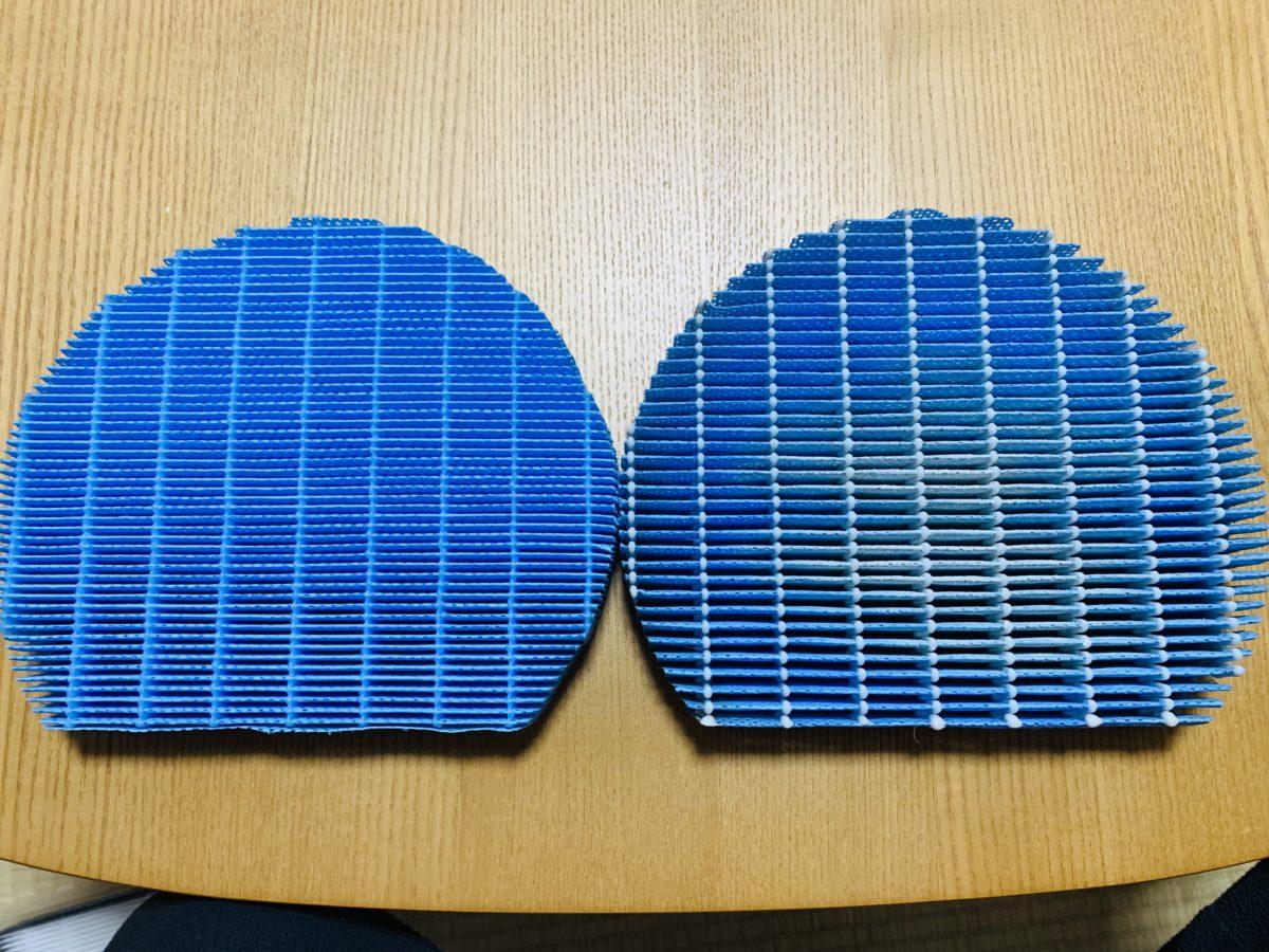 空気清浄機の加湿フィルター 比較